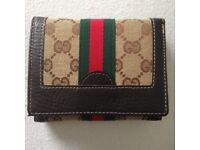 Gucci Webbed Logo Bifold Wallet New