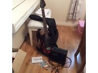 Electric Guitar Jaxville Demon ST, Practise Amp, Strap, Lead, Spare Strings, Plectrums and Bag