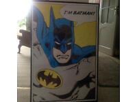 Framed Batman print