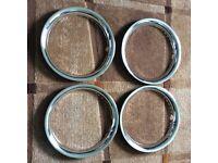 VW 15 inch beauty rings