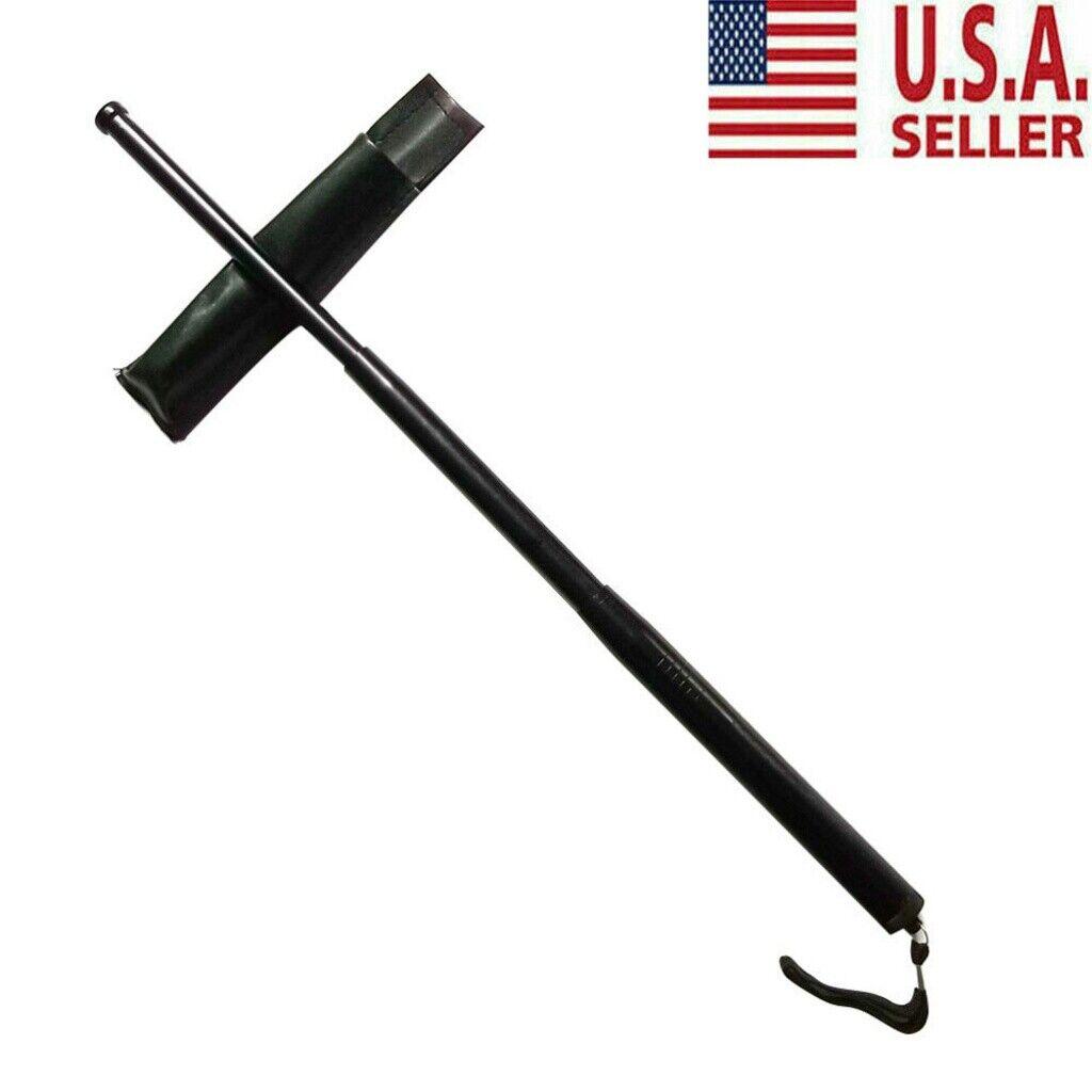 3 Sections Telescopic Pole Retractable Outdoor Whip Self-defense Tool USA