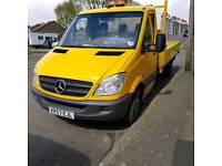 Mercedes drop side truck
