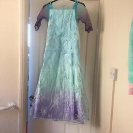 Frozen Elsa dress, gloves & cape