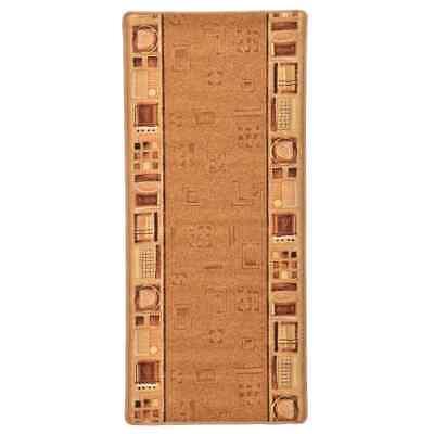vidaXL Alfombra de Pasillo con Parte Trasera de Gel Beige 67x150 cm...