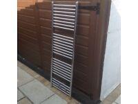 Chrome radiator, 135 cm high X 44 cm wide