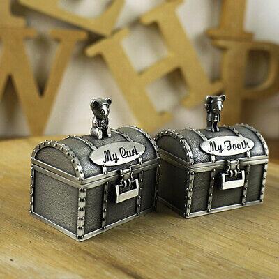 как выглядит Cute Antique Silver Babys First Tooth Curl Box Keepsake Kids Birthday Gift фото