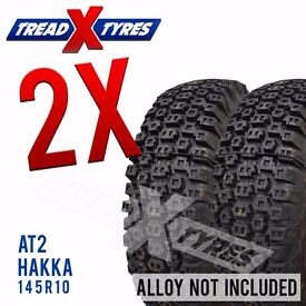 2 x New 145R10 Hakka AT2 Tyre - 145 10 - Fitting Available