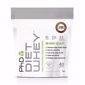 3 bags of PHD diet whey body sculpt. 40 servings per bag