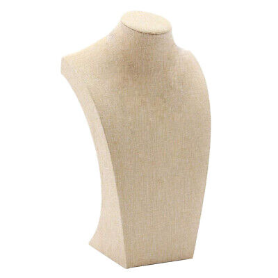 Necklace Display Bust Mannequin Jewelry Display Stand Holder Linen 1220cm