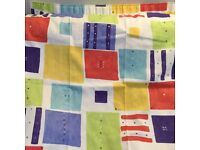 John lewis brightly coloured unlined curtains 135cm drop and 220 cm width