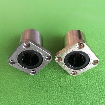 1pcs Lmk12uu 12mm Square Flange Linear Ball Bearing For 3d Printer Cnc Router