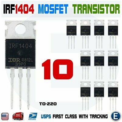 10pcs Irf1404 International Rectifier Mosfet Transistor 40v 202a 333w Irf1404pbf