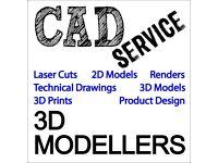 CAD Design / 3D Modelling Services !!!