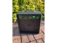 Bass guitar practice amplifier