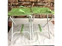 2 X FOLDING-CANVAS-CAMPING-GREEN PEAS COLOUR