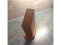Wooden knife block