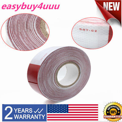 2x150 Red White Reflective Conspicuity Car Trailer Safe Tape Approved Dot-c2