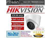 Hikvision Turbo-HD 2MP Dome Turret Camera Smart IR (white)