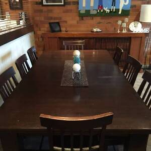 Edwardian Dinning table & 10 chairs Nunawading Whitehorse Area Preview
