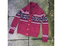 Fyi wool knitted cardigan size small
