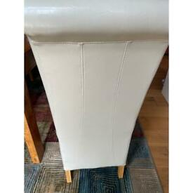 Cream Dining Chairs - scroll top 6 available