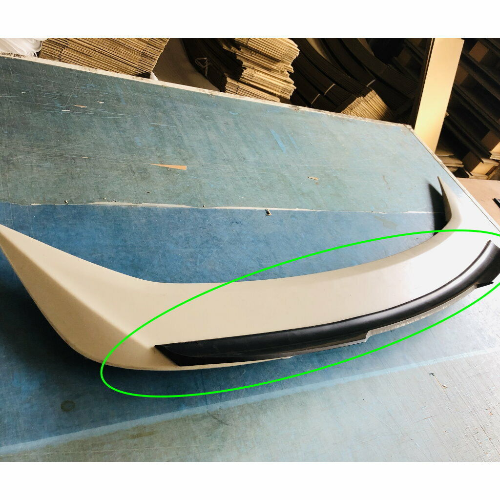Ala plana negra 648 HPDL Add-on OE Spoiler Wing para 11 ~ 18 Ford Focus MK3 Sedan