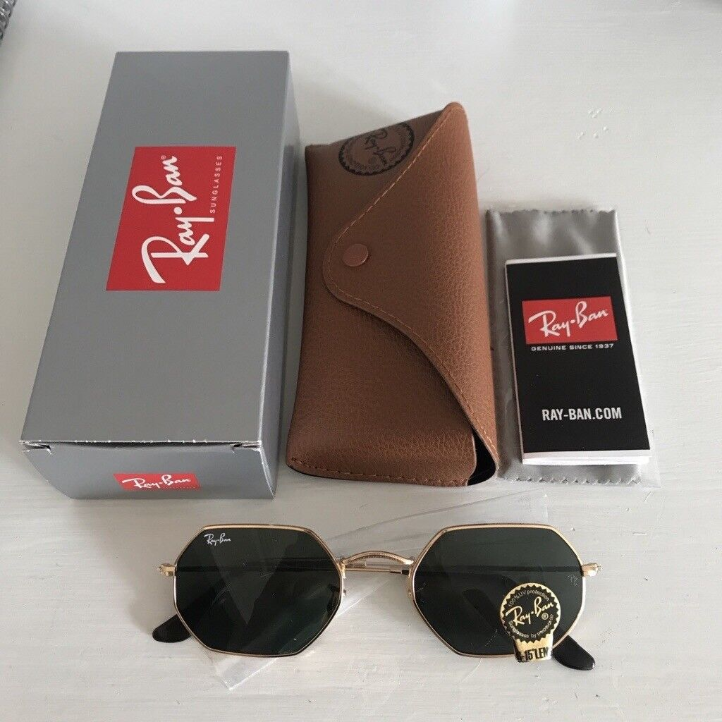 451077531a6 Authentic RayBan octagonal flat lens sunglasses. RB3556N