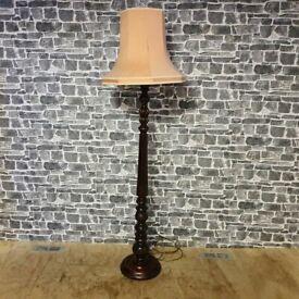 Vintage Mahogany Base Lamp