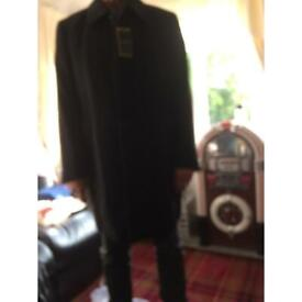 Men's black overcoat excellent quality
