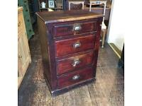 Antique Victorian tallboy chest of drawers