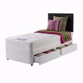 Single Divan Bed with Ortho Mattress-Double/Kingsize available
