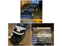 PS4, games and VR set