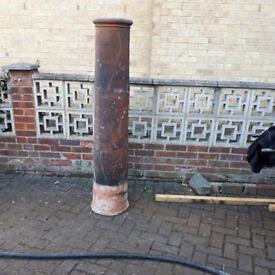 chimney pot, clay, 5 feet tall 5'
