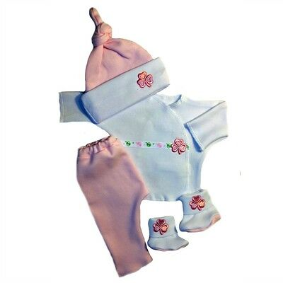 Luck of the Irish Pink Baby Girl 4 Piece Clothing  - 4 Preemie and Newborn Sizes
