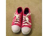 Heelies pink size 4