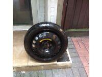 08 Vauxhall Safira space saver wheel.