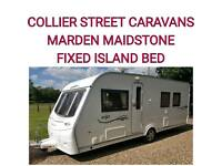 2009 fixed Island bedroom coachman vip 545 /4 berth caravan