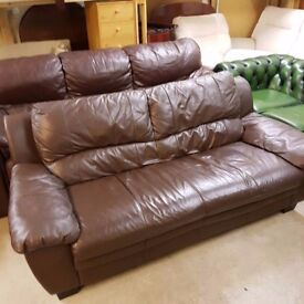 Sofas 2 & 3 seater real leather