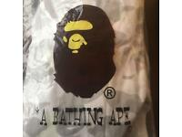 BAPE Bathing Ape zipper in white camo
