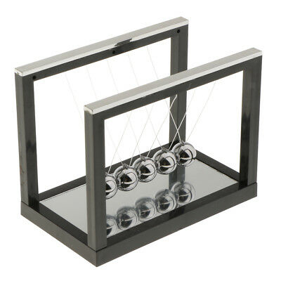 Newton Cradle Billiard Balance Ball Physics Science Pendulum Toy Black S