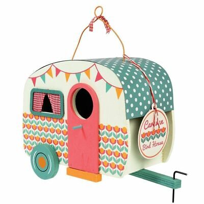 Vintage Caravan Shaped Birdhouse