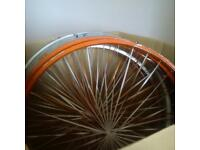 Wedding bike wheels
