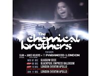 1 x Ticket for Chemical Brothers, Hammersmith Eventim Apollo - 11/12/2016