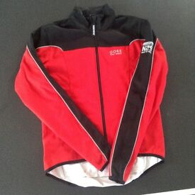 Gore Bike Wear, Red, Wind Stop cycling jacket, size Small