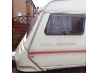 5 berth caravan spares or repair abbey 1992