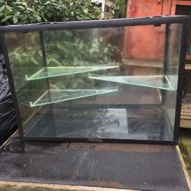 3 shelf Critter Choice glass rodent tank (now cleaned out)