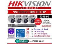 Hikvison 5MP 4 Cameras: 1x 5MP PoC DVR, 4x Dome Cameras