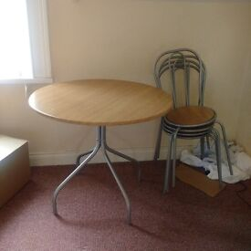 Beechwood Round table & four chairs