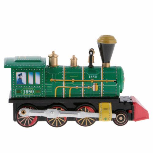 Schylling MS432 Collectible Wind-up Vintage Locomotive Model Clockwork Tin Train