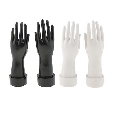 Female Mannequin Hand Jewelry Bracelet Glove Display Holder Stand 2 Pairs